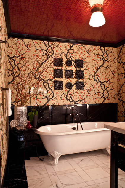 Transitional Bathroom by Elizabeth Gordon