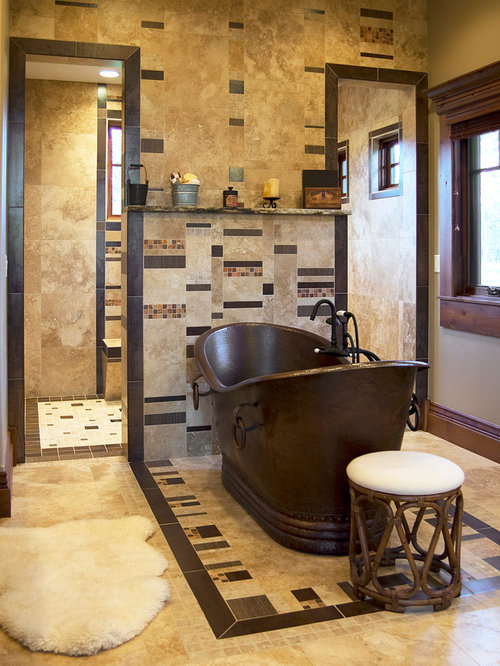 pictures of tiled walk in showers. Elegant bathroom photo in Boise Tiled Walk In Shower  Houzz
