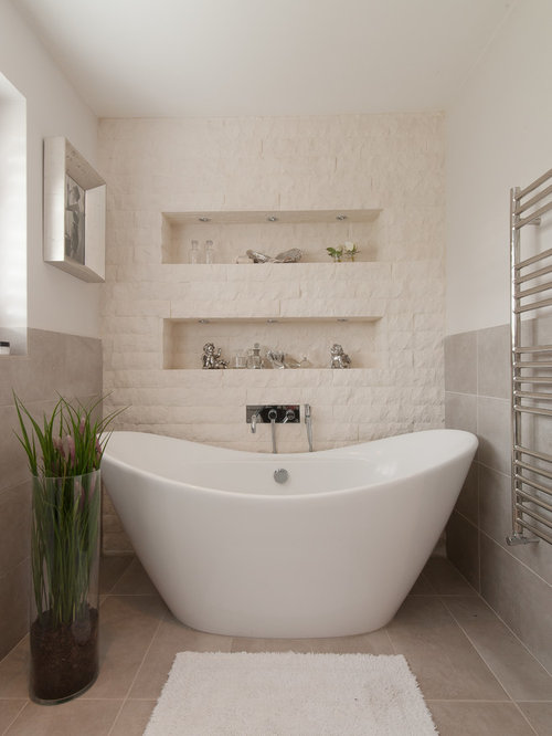 Bathroom with White Tiles Ideas, Designs & Pictures