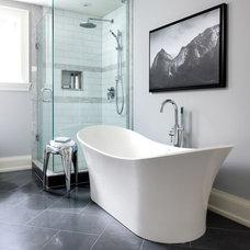 Transitional Bathroom by Jackie Di Cara Design