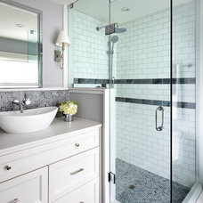 Transitional Bathroom by Jackie Di Cara Design