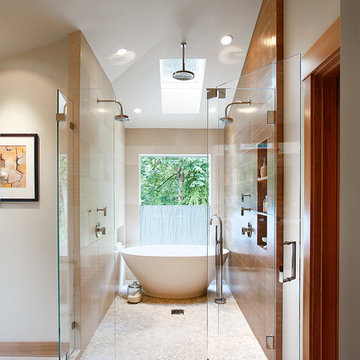 Home in the Woods, Master Bath, Spa