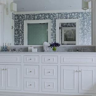 Example of a beach style bathroom design in Boston