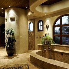 Mediterranean Bathroom by Aspect Fine Homes