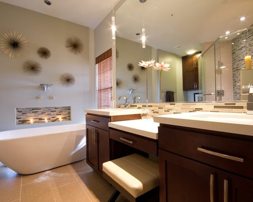 contemporary bathroom idea in phoenix with a freestanding tub - Starburst Wall Decor