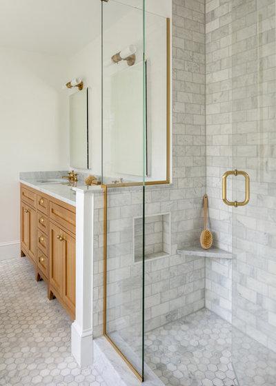 Farmhouse Bathroom by kelly mcguill home