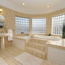 mediterranean bathroom by Revealing Assets - Home Staging Services