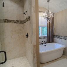 Rustic Bathroom by Blalock Homes LLC