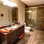 Water Tower Inspired Home Master Bath Suite Rustic