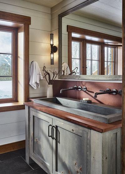 Rustic Bathroom by Cushman Design Group
