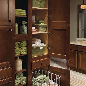 Homecrest Cabinetry: Linen Utility Cabinet with Hamper