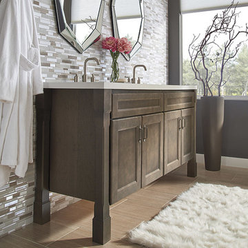 Homecrest Cabinetry: Shaker Style Bathroom Cabinets