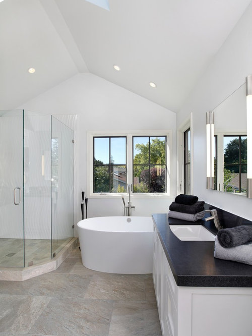 Vaulted Ceiling Bathroom Houzz