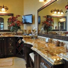 Mediterranean Bathroom by Cornell Custom Homes, Inc