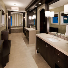 Transitional Bathroom by Damon Searles Photography