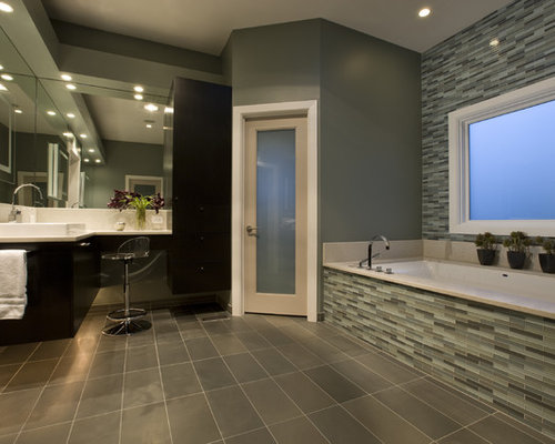 Contemporary master bathroom home design ideas pictures for Master bathroom modern