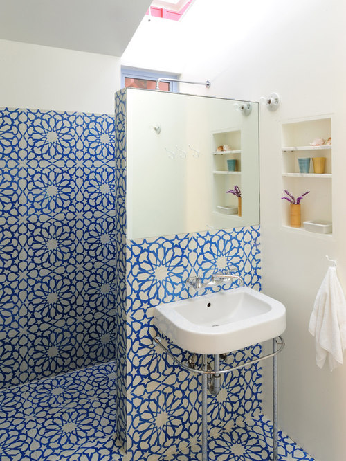 Blue And White Tile Houzz