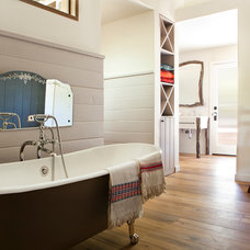 Rustic Bathroom by Suzan Fellman LLC