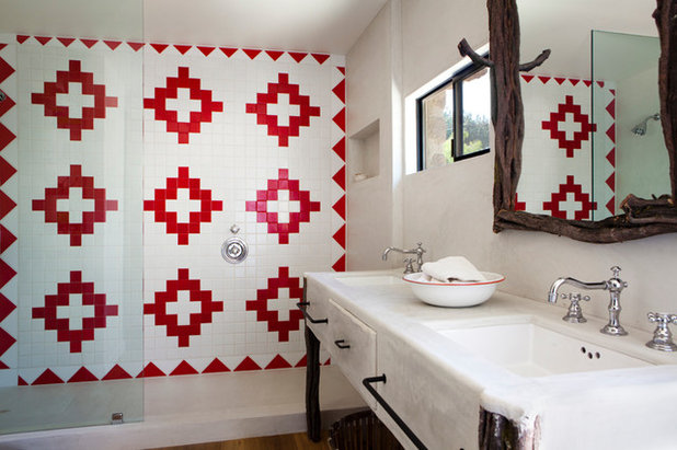 Southwestern Bathroom by Suzan Fellman LLC