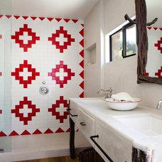 Rustic Bathroom by Suzan Fellman LLC