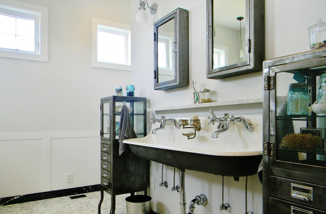 Farmhouse Bathroom by Kimberley Bryan