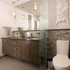 Contemporary Bathroom by Candace Nordquist Interiors