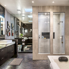 Contemporary Bathroom by Dean J. Birinyi Photography