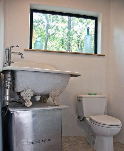 Industrial Bathroom by Sarah Natsumi Moore