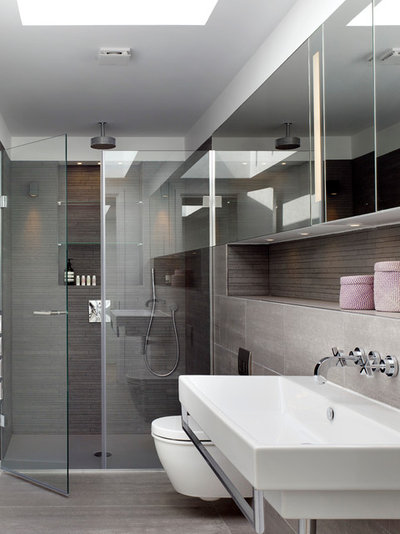 Scandinavian Bathroom by Stiff as well as also Trevillion