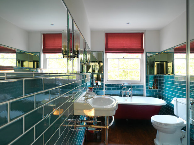 Transitional Bathroom by Adam Butler Photography