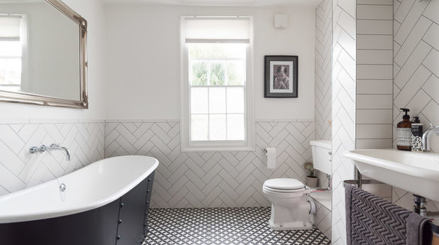 Transitional Bathroom by Kopal Jaitly Photography