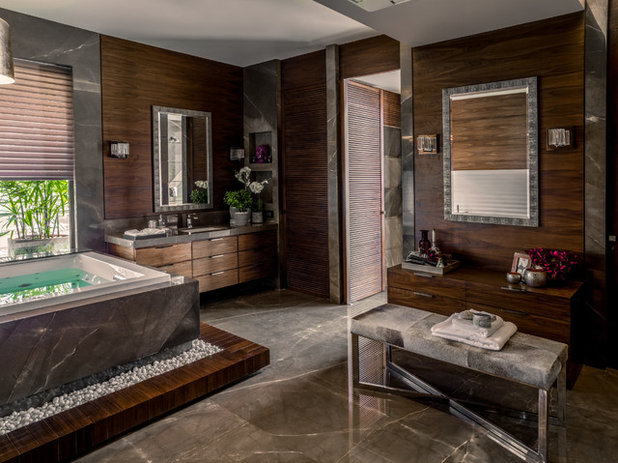 Contemporary Bathroom by Fabien Charuau Photography