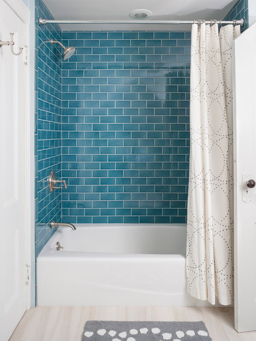 Turquoise subway tile home design ideas pictures remodel - Turquoise bathroom floor tiles ...