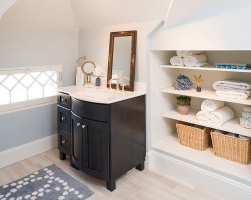 Bathroom Knee Wall knee wall shelves | houzz