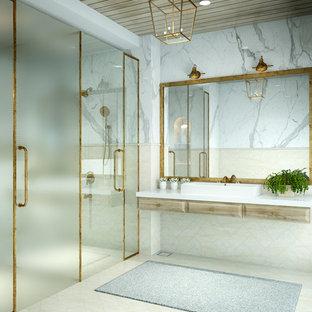 Design ideas for a traditional bathroom in Mumbai.
