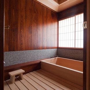 Example of a zen bathroom design in New York