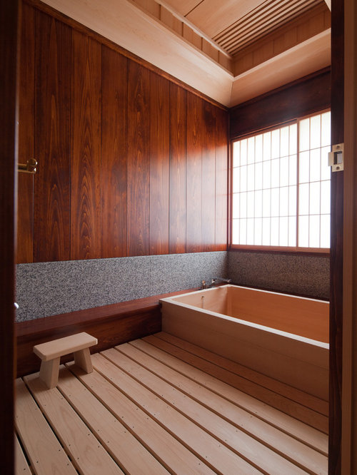 japanese bathroom design wood soaking tub home design ideas pictures remodel and 12803