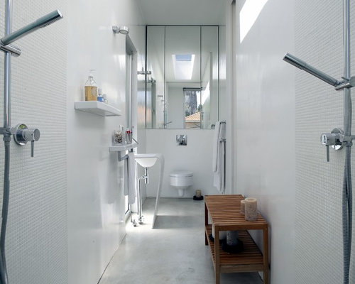 Narrow Ensuite Home Design Ideas Renovations Photos