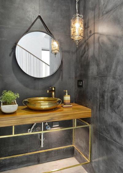Modern Bathroom by S A K Designs