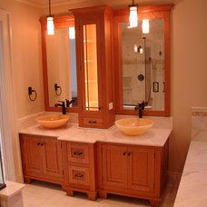 Craftsman Bathroom by Evan Cotler Fine Furniture & Cabinetry