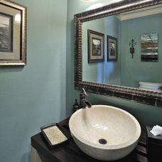 Transitional Bathroom by Vining Design Associates