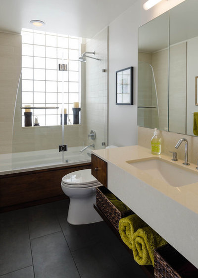 Industrial Bathroom by CONTENT Architecture