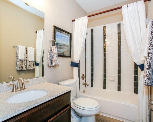 Bathroom design ideas remodels photos with laminate for White bathroom laminate flooring
