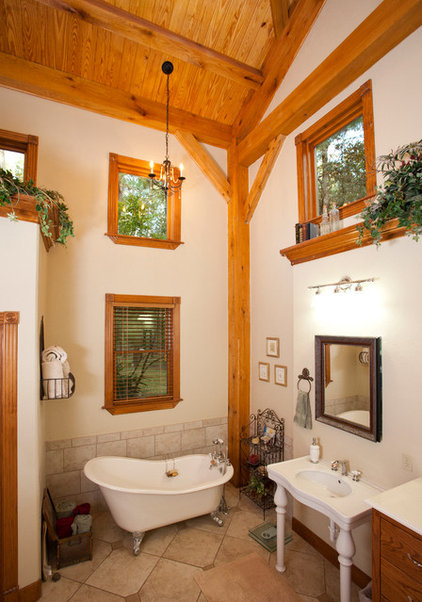 Traditional Bathroom by Texas Timber Frames
