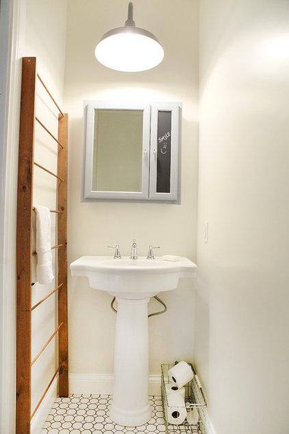 Farmhouse Bathroom by Julie Ranee Photography