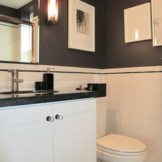 Transitional Bathroom Houzz Tour: Modern History