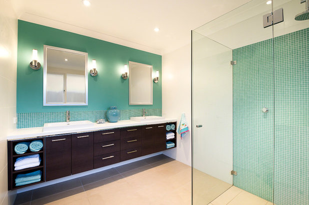 Contemporary Bathroom by Karen Aston Design