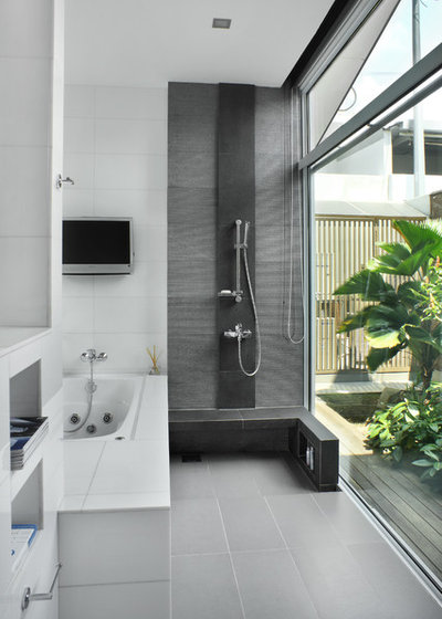 Modern Bathroom by Design Point Interiors Pte Ltd