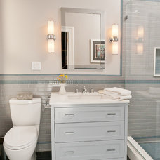 Transitional Bathroom by J. PATRYCE DESIGN