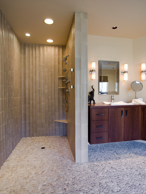 Open Shower Bathroom open concept shower | houzz